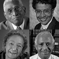 Members of the African-American Philanthropy Committee: Reverend Elmo A. Bean, Doris A. Evans, M.D., David G. Hill, Lillian W. Burke