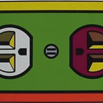 Mort Epstein's Pop Art-inspired electrical outlet, a CAAC-commissioned mural, graced the Union building on Euclid Avenue.