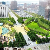 LAND Studio's proposed redesign of Public Square