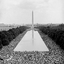 The March on Washington, August 28, 1963, at which Martin Luther King Jr. called upon the nation to make good on democracy's promise of social and economic freedom for all citizens
