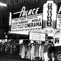 The Palace, the flagship of the Keith chain of vaudeville theaters, reinvented itself as a wide-screen movie house in the 1950s.