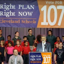 Cleveland voters expressed their hopes for the success of the reform plan by approving the Issue 107 operating levy.