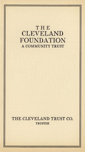 Cover of The Cleveland Foundation: A Community Trust