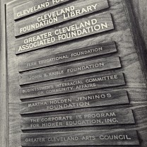 The multitude of organizational nameplates on the door to the Cleveland Foundation's offices in the 1970s testified to its rebirth as a nexus of progressive philanthropy and an incubator of social-action programs.