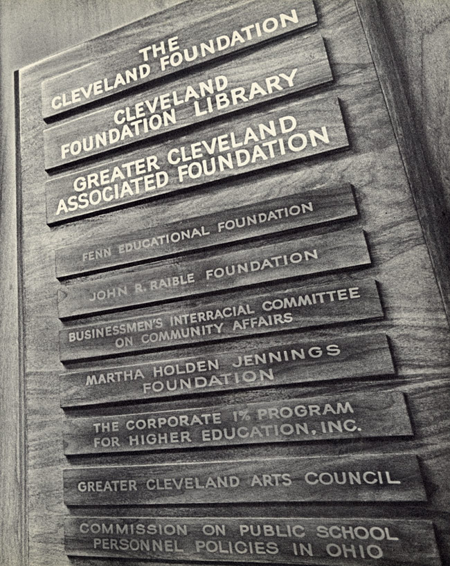 The Multitude Of Organizational Nameplates On The Door To The Cleveland  Foundationu0027s Offices In The 1970s Testified To Its Rebirth As A Nexus Of  Progressive ...