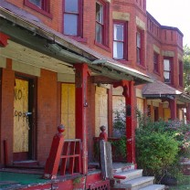 Cleveland's well-financed and -run network of community development organizations targeted this crumbling but historic eight-unit rowhouse in the Central neighborhood for rehabilitation.