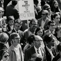 Protest demonstration at Cleveland State University, 1969: poverty rates in the central city on the rise