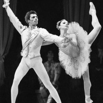 Cleveland Ballet co-founder Dennis Nahat as the tsar and Nanette Glushak as the tsarina in the company's signature holiday performance of The Nutcracker