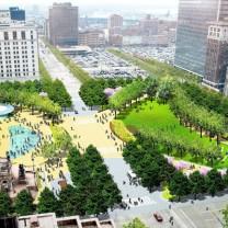 LAND Studio's proposed redesign of Public Square