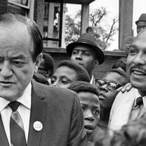 Vice President Hubert H. Humphrey showed his support for Stokes's Cleveland: NOW! initiative on a visit to the city in 1968.