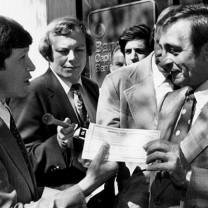Mayor Dennis Kucinich's ceremonial presentation of a post-default debt payment